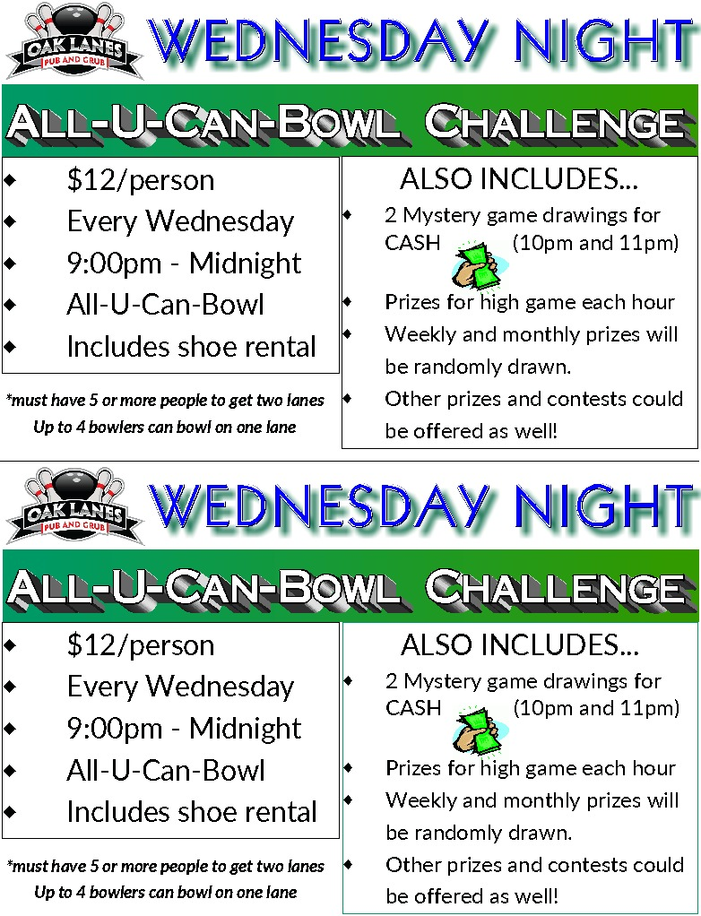 Wednesday Open Bowling